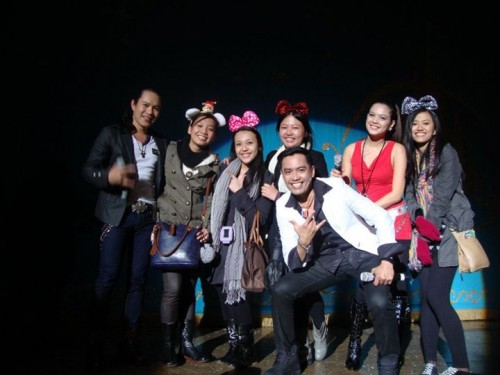 With Filipino band, Musimix, in Lotte World.