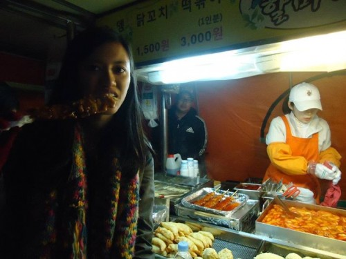 Trying out some street food in Seoul, South Korea!