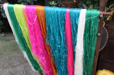 Silk in different colors