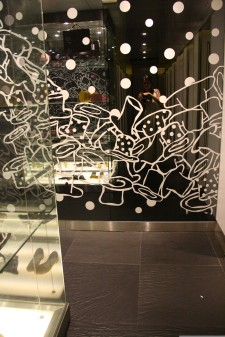 Mirror art at the rest room in Siam Center