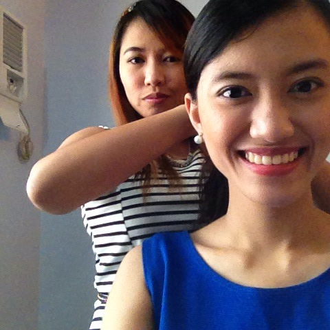Thanks Ann for my hair. Ate Thea for my make-up. Artista? Haha