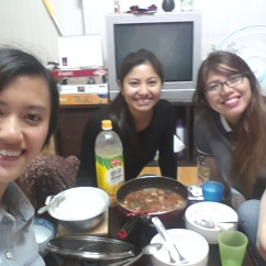 Cooked Filipino dish Sinigang for Aly and Lynette